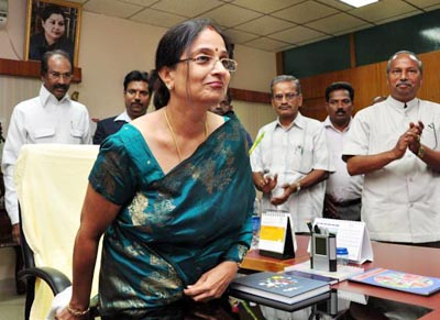 On April 9 Kalyani Mathivanan took over as the Vice-Chancellor of Madurai Kamaraj University